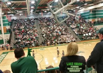 Supporting Lake Orion High School Basketball
